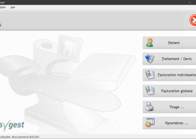 Le tableau de bord peut être affiché ou non sur l'écran d'accueil de notre logiciel pour dentiste